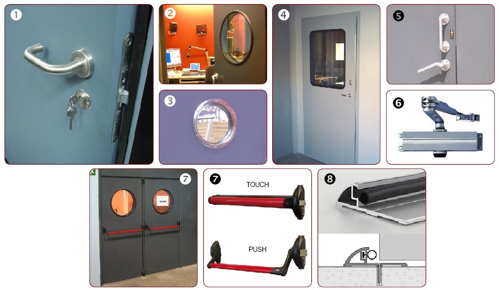 ACCESSORIES FOR ACOUSTIC DOORS | ©Acústica Integral - Soundproofing