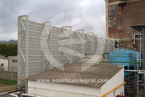 Acoustic barrier in cooling towers Chemical Plant