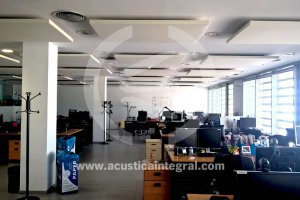 Acoustic islands in office.