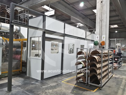 Acoustic screening for packaging plant
