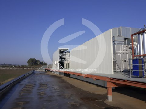 Acoustic barrier for industrial air conditioning