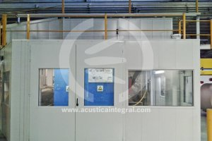 Acoustic solutions in corrugated cardboard factory