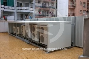 Acoustic barriers for air conditioners