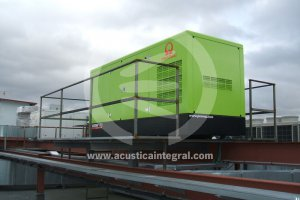 Acoustic enclosure for Genset Mall in Madrid