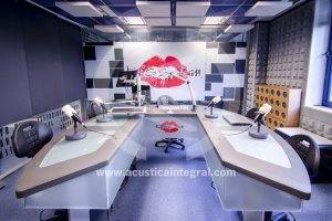 Improved treatment absorbent radio studio in Madrid
