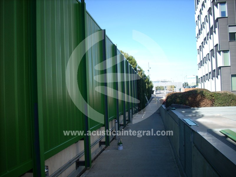 Acoustic Barrier Building next to the highway